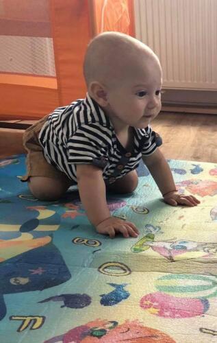 Иван с първи стъпки в пълзенето, а само на 6 месеца!